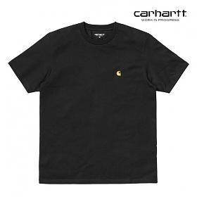 [칼하트WIP] CARHARTT WIP - S/S Chase T-Shirt (Black / Gold) 체이스 자수 로고 반팔티