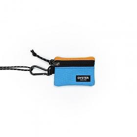 [오이스터컬쳐클럽]OCC 목걸이 동전지갑 & 카라비너 다크옐로우 스카이 캔버스 마이크로 파우치