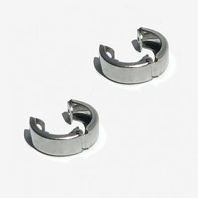 [RUSHOFF] Surgical Steel Bold Fake Earring / 써지컬스틸 볼드 페이크 귀걸이 (귀찌)
