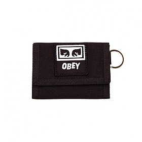 [오베이]OBEY - DROP OUT TRI FOLD WALLET (BLACK) 3단지갑 지갑
