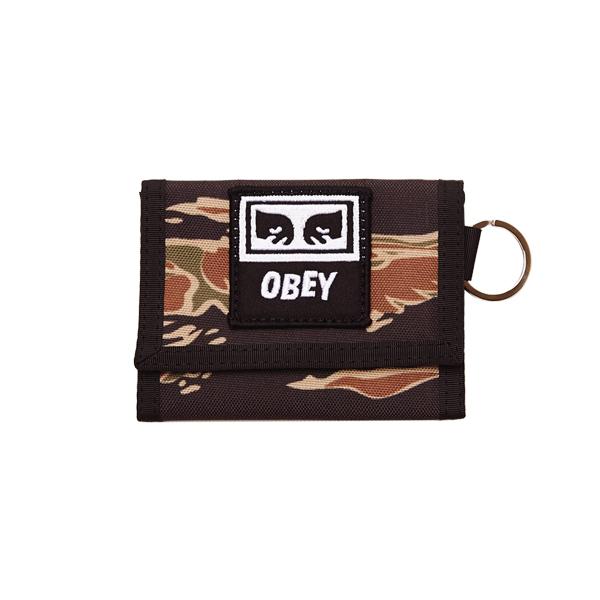 [오베이]OBEY - DROP OUT TRI FOLD WALLET (TIGER CAMO) 타이거 카모 3단지갑 지갑
