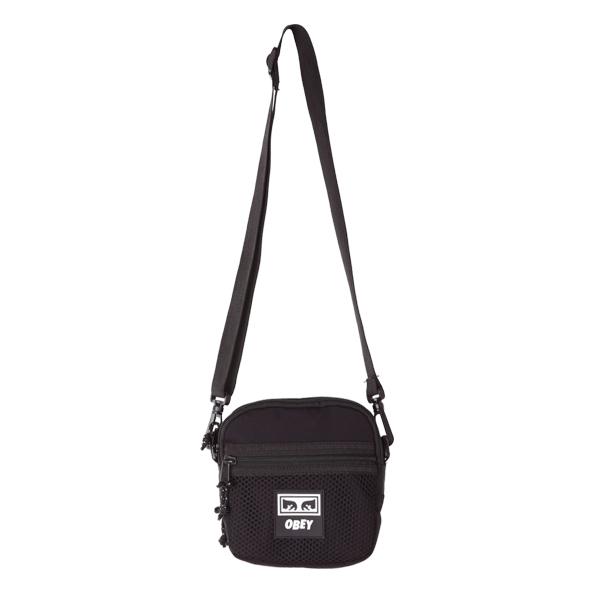 [오베이]OBEY - CONDITIONS TRAVELER BAG (BLACK) 메쉬 미니 크로스백 미니백