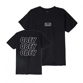 [오베이]OBEY - OBEY JUMBLED EYES T-SHIRT (BLACK) 반팔티 티셔츠