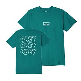 [오베이]OBEY - OBEY JUMBLED EYES T-SHIRT (TEAL) 반팔티 티셔츠