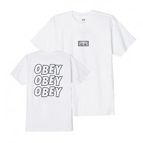 [오베이]OBEY - OBEY JUMBLED EYES T-SHIRT (WHITE) 반팔티 티셔츠