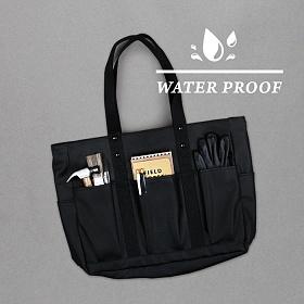 [모노노]MONONO - 8 Pocket 3 Way Bag Coated Canvas ( 코팅 캔버스 ) ( Matt Black )
