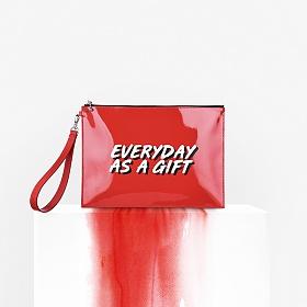 [아반자에르모쏘] 에리얼(ARIEL) - RED ORANGE 클러치