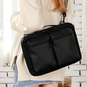 [플레인웍스] PW Cross & Brief case bag - Black 크로스백 노트북 가방