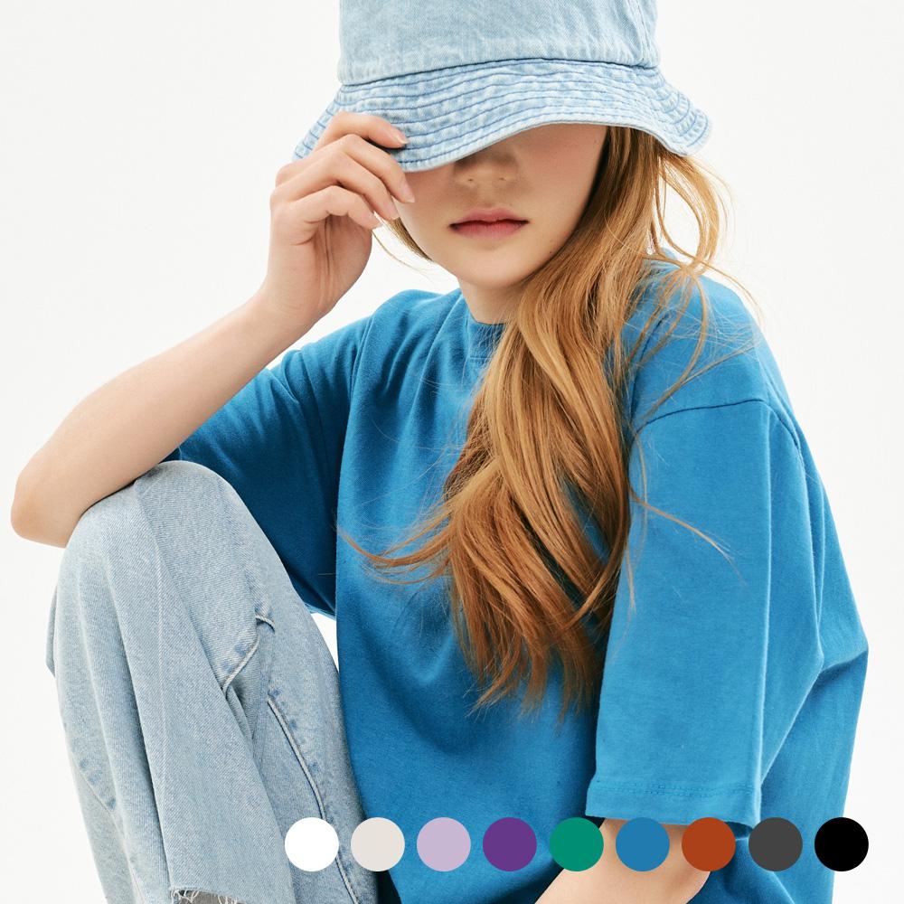 [프로젝트624] 우먼 베이직 루즈핏 무지 티셔츠 9COLOR