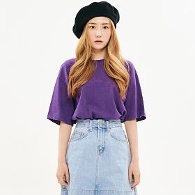 [프로젝트624]우먼 베이직 루즈핏 무지 티셔츠 보라