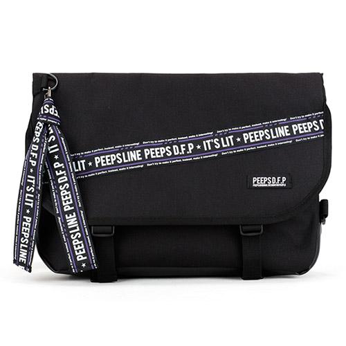 [키링증정][핍스] essential messenger bag_P line edit(P line_black) 에센셜 메신저백