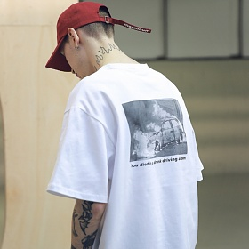 매스노운 SL 로고 스카치 버닝 티셔츠 반팔티T-SHIRTS MSNTS001-WT