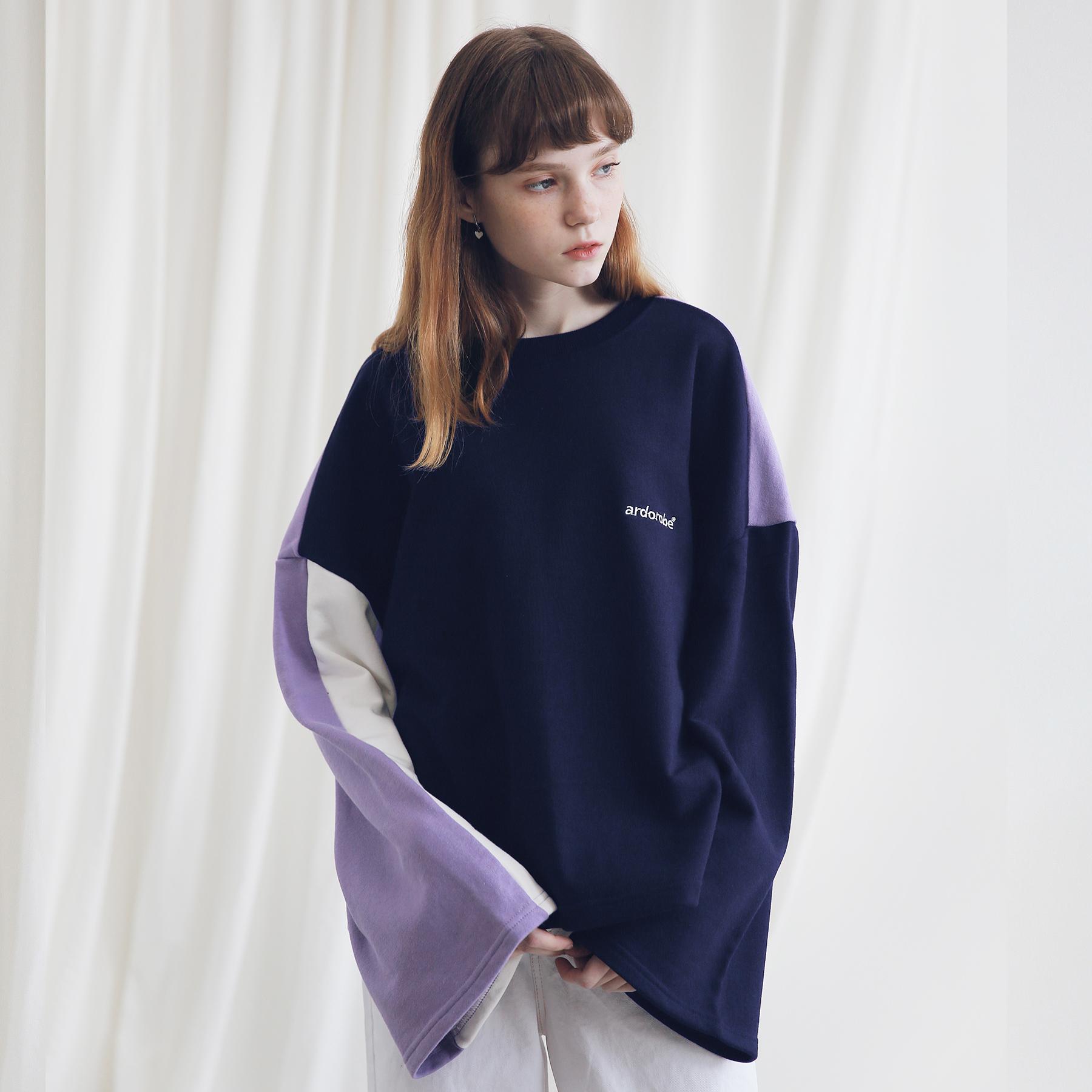 아더로브 컬러레이션 스��셔츠 ACR191002-NV