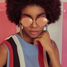 블루엘리펀트 - CECIL soft pink mirror 남자 여자 레트로 빈티지 복고 동그란 원형 동글이 커플 금테 메탈 미러 선글라스