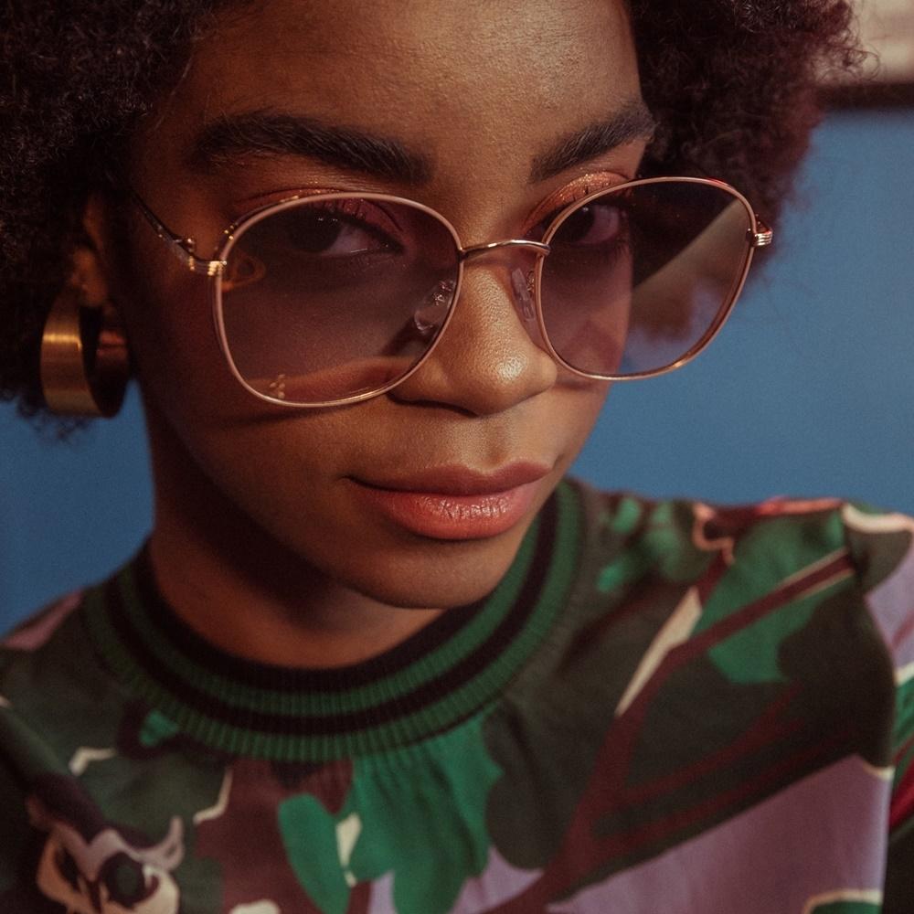 블루엘리펀트 - DORIS soft lavender mirror 남자 여자 오버사이즈 빅사이즈 큰 동그란 원형 동글이 금테 메탈 미러 선글라스