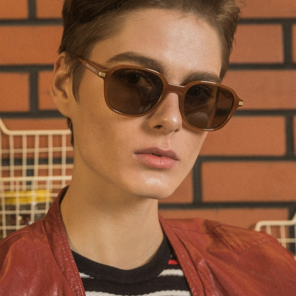 블루엘리펀트 - JASON amber 남자 여자 레트로 빈티지 복고 커플 뿔테 선글라스