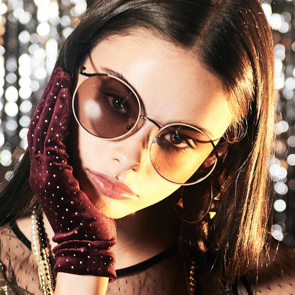 블루엘리펀트 - VOVA blush tint 여자 빅사이즈 큰 동그란 동글이 금테 틴트 선글라스
