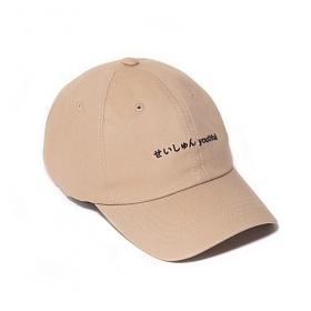 [벗딥]BUTDEEP - 2019 SEISHUNE CURVED CAP-BEIGE 볼캡 캡모자
