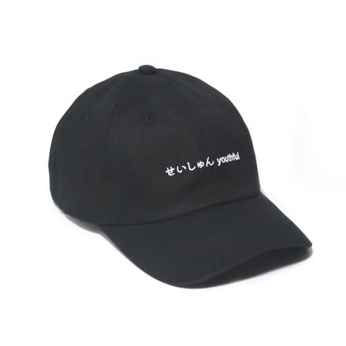 [벗딥]BUTDEEP - 2019 SEISHUNE CURVED CAP-BLACK 볼캡 캡모자