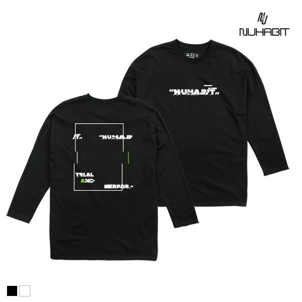 뉴해빗 - CRACK SQUARE - (SOT9S-7081) - 루즈핏 베이직 티셔츠 - A_27