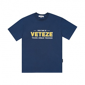 (M사이즈 7/5 출고예정) 베테제 - Authentic Half T-Shirt (deep blue) 어센틱 하프 티셔츠 (딥 블루)