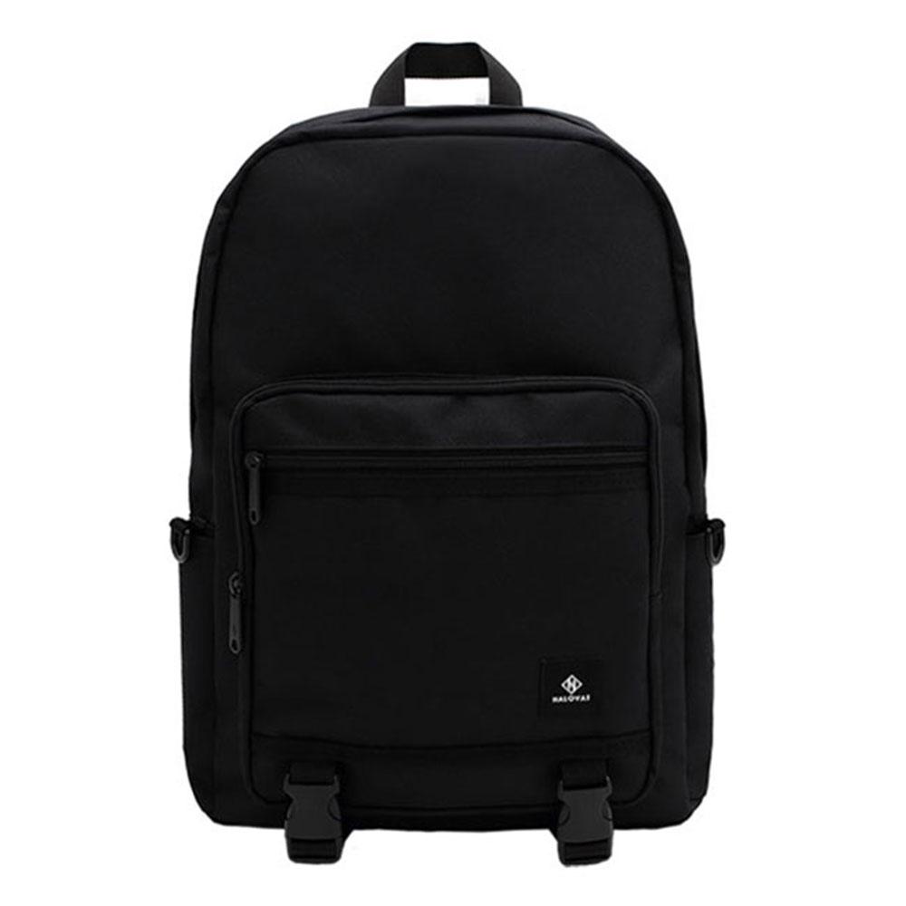 [할로바트] HALOVAT - BASIC DOUBLELINE BACKPACK / BLACK 백팩