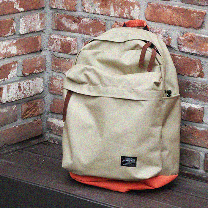 [모노노] MONONO - 트래블 백팩 Travel Backpack ( 베이지 오렌지 )