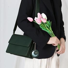 (달거울 증정/탄생석)[디랩] Two way Bag (SM) - Green 크로스백 미니백