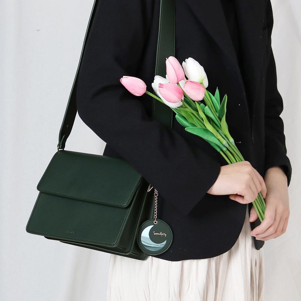(달거울 증정/탄생석) Two way Bag (SM) - Green