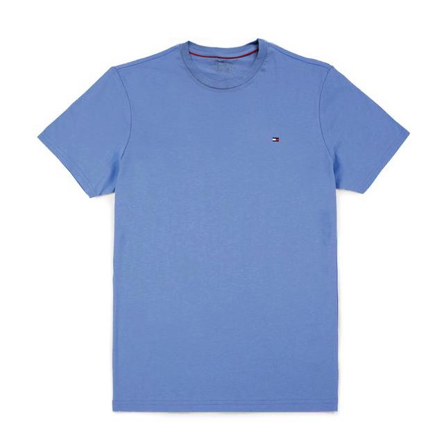 타미힐피거 맨즈 반팔 티셔츠 3210 472 멜란지블루 남녀공용 정품 국내배송