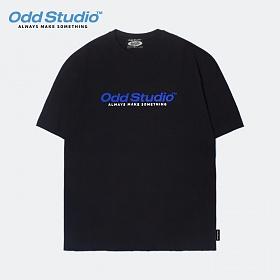 오드스튜디오 스탠다드 로고 티셔츠 - BLACK