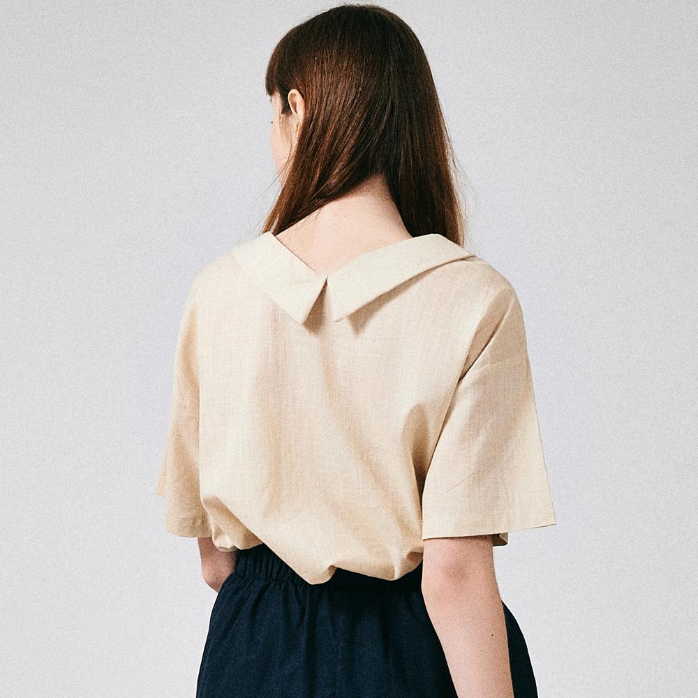 [프로젝트624]프론리어 카라 티셔츠 베이지