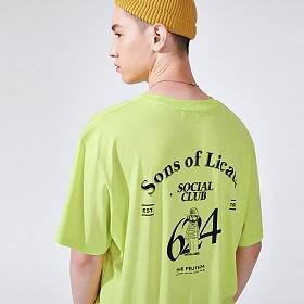 [프로젝트624](UNISEX) 썬즈 오브 리카타 리어 아트웍 티셔츠 네온라임