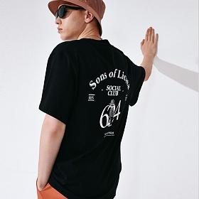 [프로젝트624](UNISEX) 썬즈 오브 리카타 리어 아트웍 티셔츠 블랙