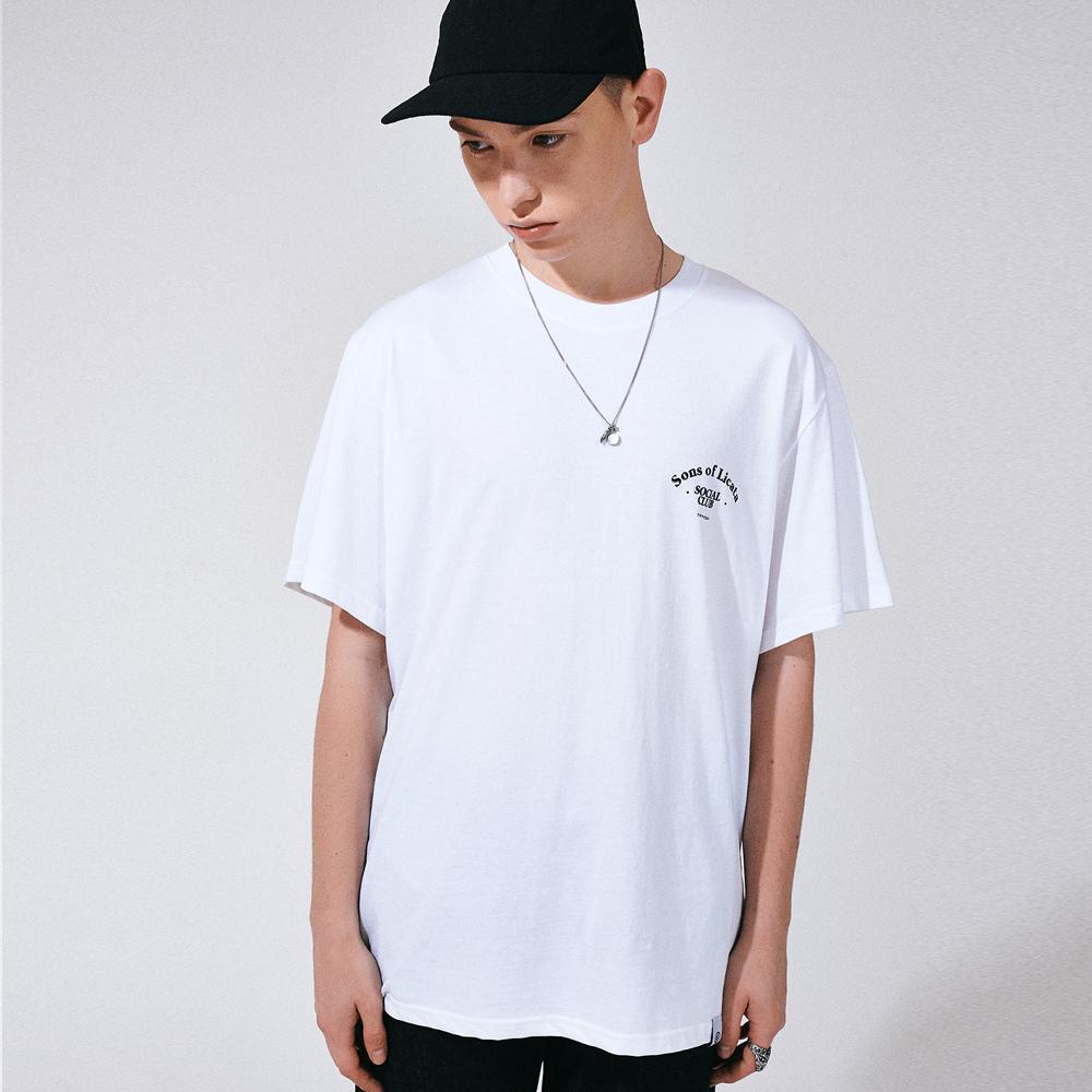 [프로젝트624](UNISEX) 썬즈 오브 리카타 리어 아트웍 티셔츠 화이트