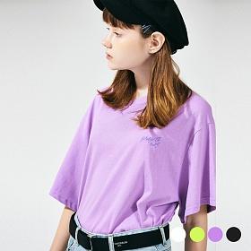 [프로젝트624](UNISEX) 스탠다드 자수 로고 티셔츠 4COLOR