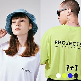 [프로젝트624](1+1) 인터내셔날 빅로고 티셔츠 4COLOR