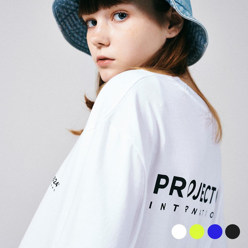 [프로젝트624](UNISEX) 인터내셔날 빅로고 티셔츠 4COLOR
