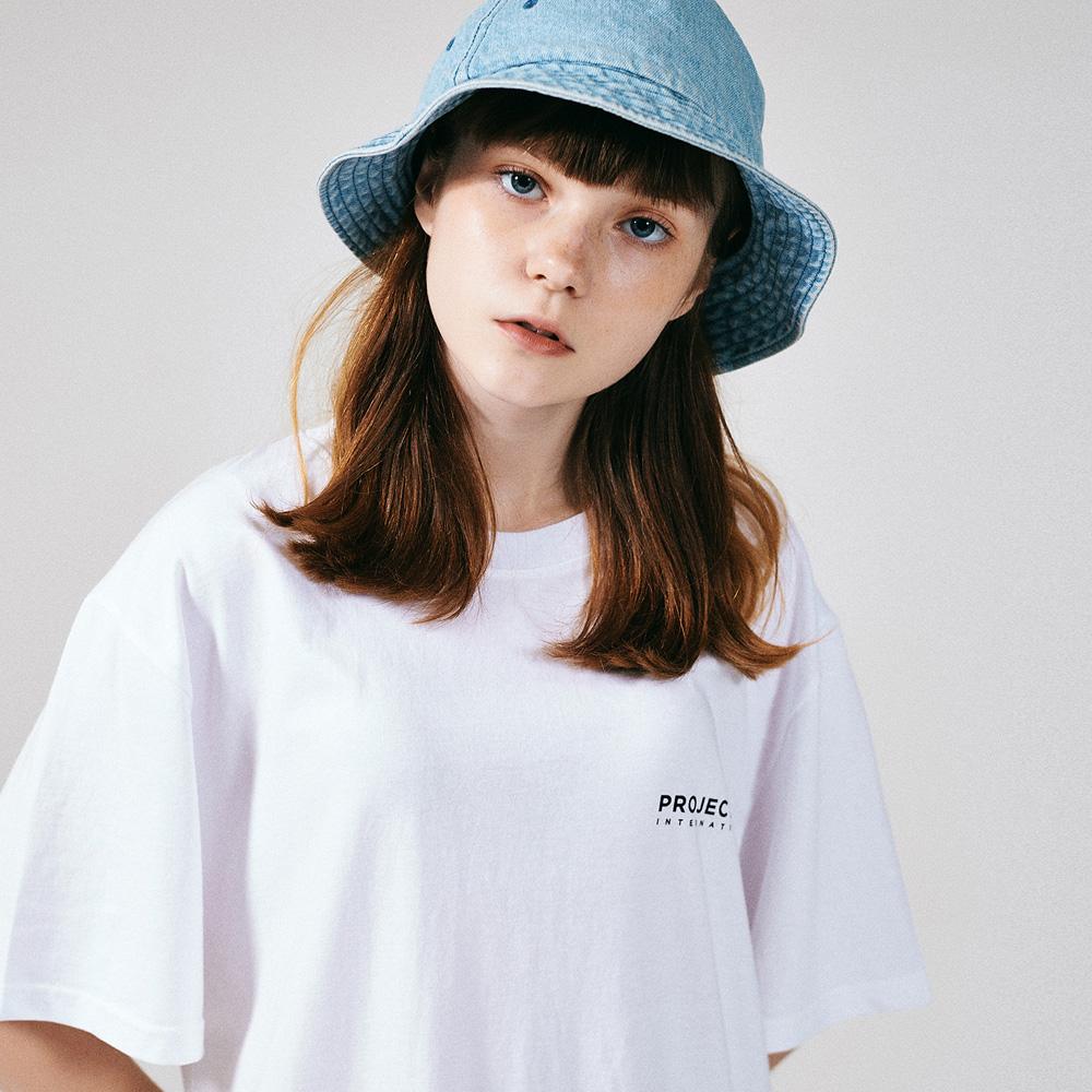 [프로젝트624](UNISEX) 인터내셔날 빅로고 티셔츠 화이트