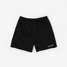 [프로젝트624](UNISEX) 스탠다드 코튼 로고 밴딩 숏팬츠 블랙