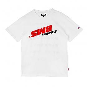 [비엠에스프랑스] BMSFRANCE BMS SWITCH Overfit T-shirts - 오버핏반팔티 - white (GEZ2284_31)