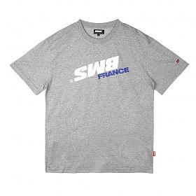 [비엠에스프랑스] BMSFRANCE BMS SWITCH Overfit T-shirts - 오버핏반팔티 - gray (GEZ2284_32)