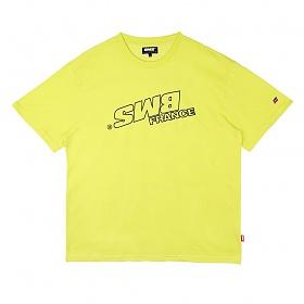 [비엠에스프랑스] BMSFRANCE BMS SWITCH Overfit T-shirts - 오버핏반팔티 - neon (GEZ2284_63)