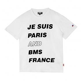 [비엠에스프랑스] BMSFRANCE BMS PARIS Overfit T-shirts - 오버핏반팔티 - white (GEZ2285_31)