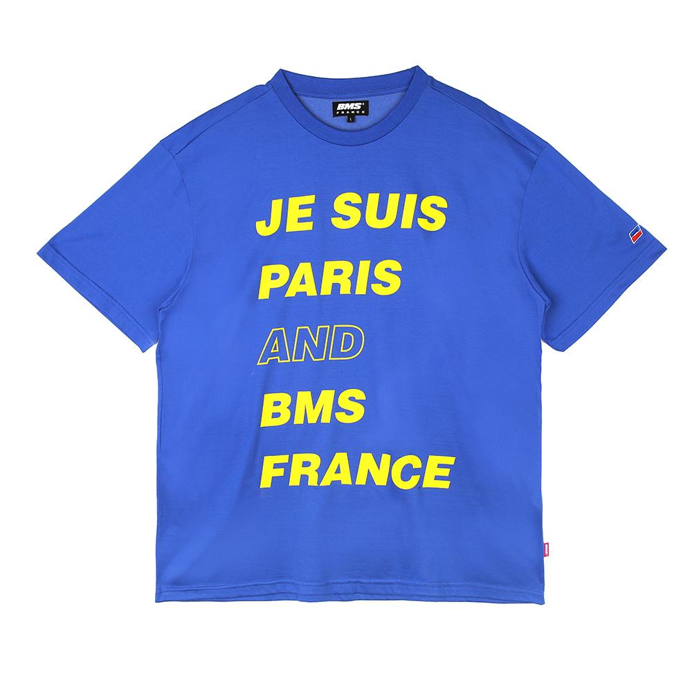 [비엠에스프랑스] BMSFRANCE BMS PARIS Overfit T-shirts - 오버핏반팔티 - blue (GEZ2285_44)