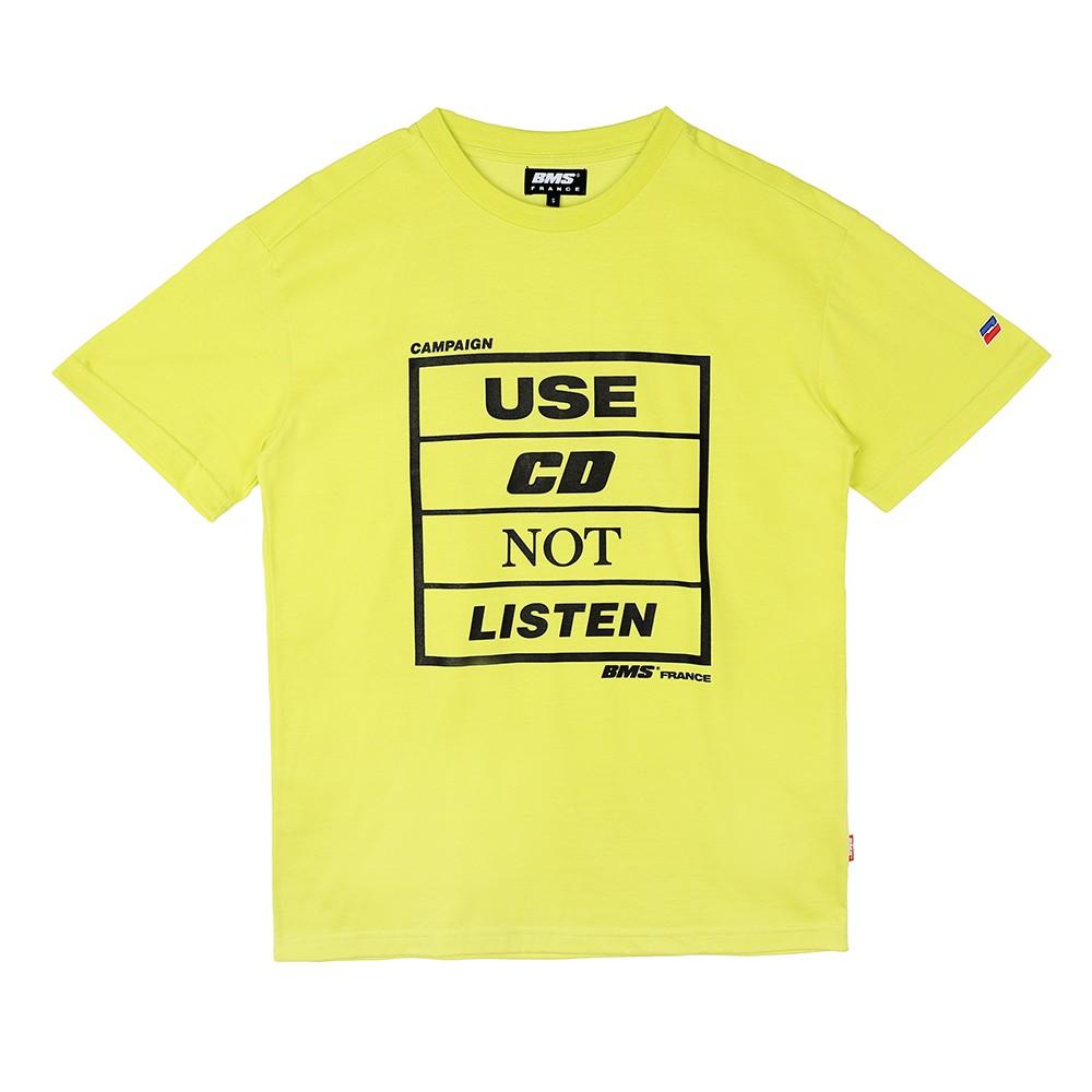 [비엠에스프랑스] BMSFRANCE BMS CAMPAIGN Overfit T-shirts - 오버핏반팔티 - neon (GEZ2286_63)