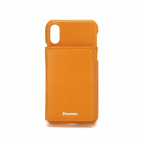 [페넥]FENNEC LEATHER iPHONE X/XS TRIPLE POCKET CASE - MANDARIN 레더 아이폰 케이스