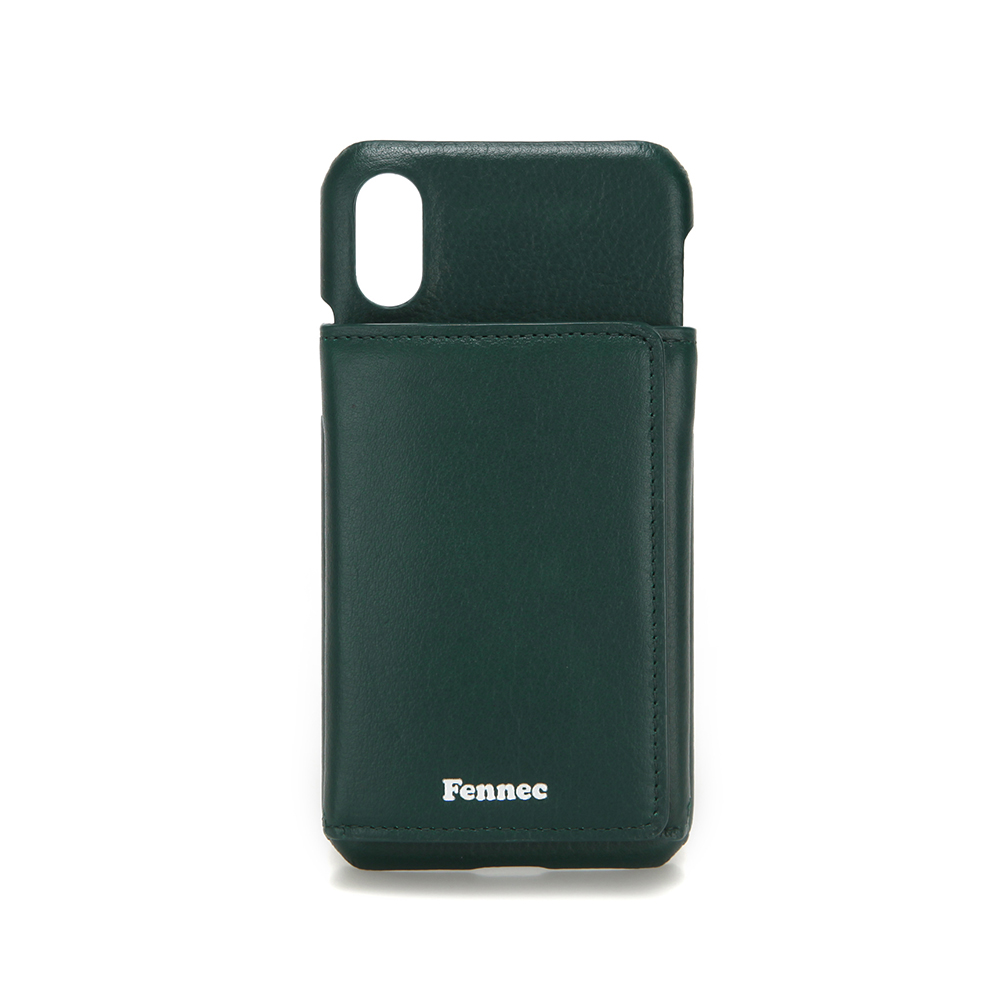 [페넥]FENNEC LEATHER iPHONE X/XS TRIPLE POCKET CASE - MOSS GREEN 레더 아이폰 케이스