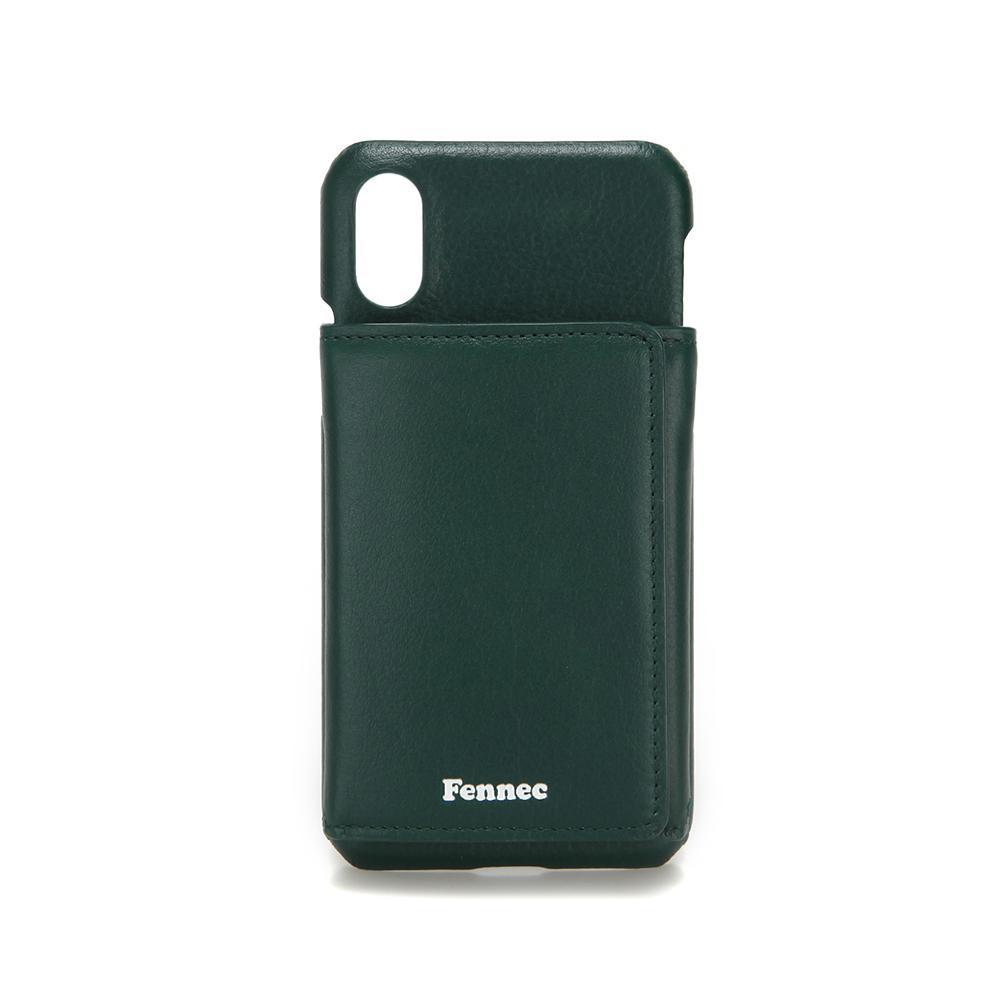 [페넥]FENNEC LEATHER iPHONE X/XS TRIPLE POCKET CASE - MOSS GREEN 레더 아이폰 케이스