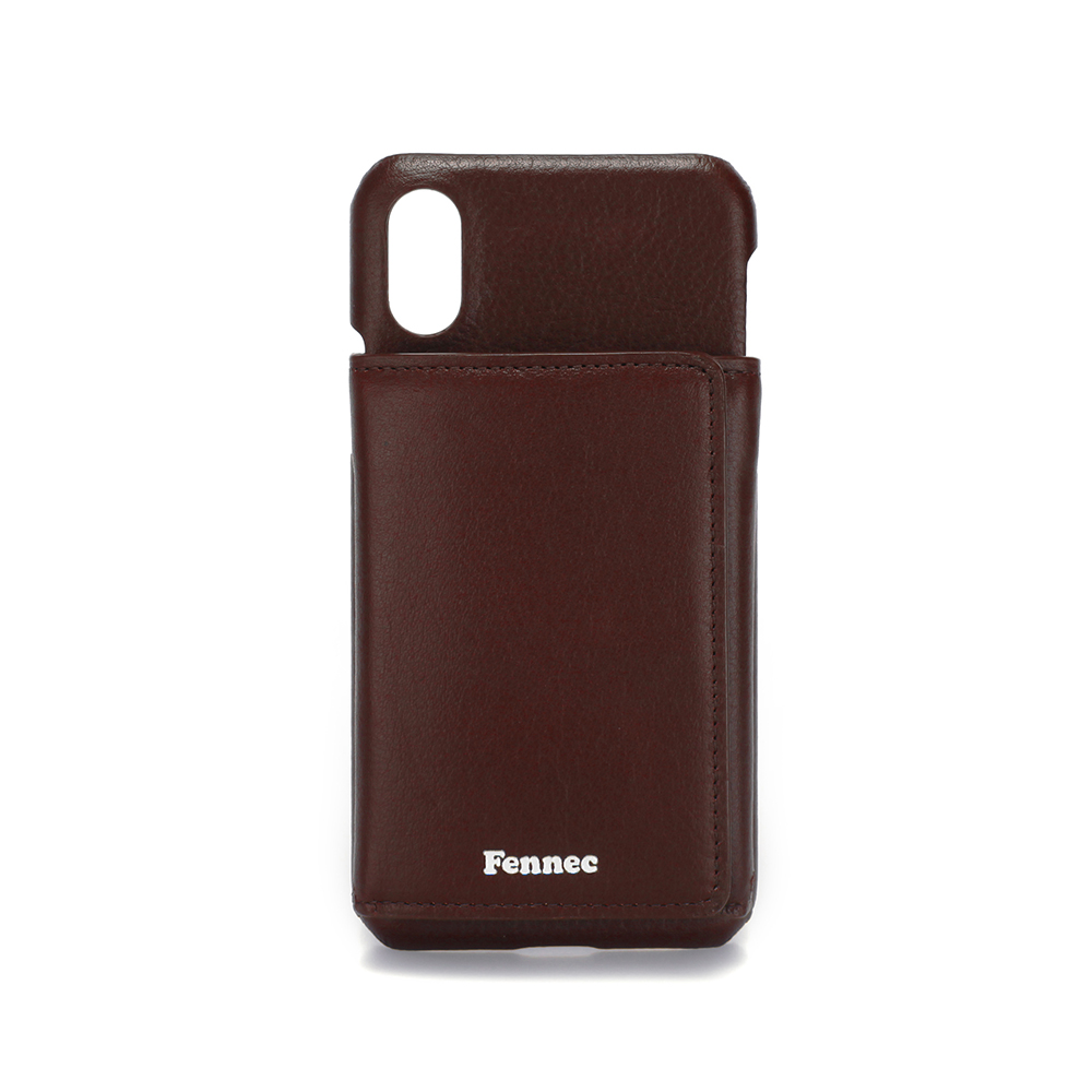 [페넥]FENNEC LEATHER iPHONE X/XS TRIPLE POCKET CASE - WINE 레더 아이폰 케이스